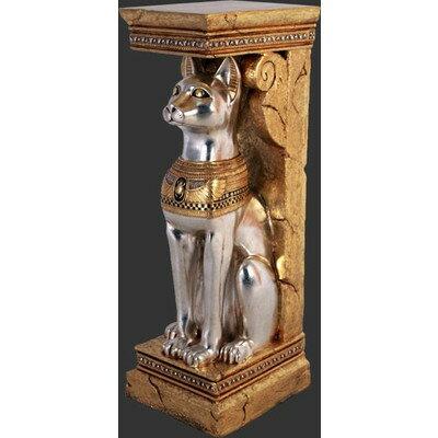 古代エジプト・神聖なネコ(猫)コラム【2体セット】 ビッグフィギュア(等身大フィギュア):ドリームフィギュア