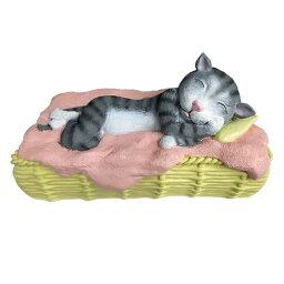 おもしろ雑貨『ティッシュケース』 カワイイ猫のお昼ね