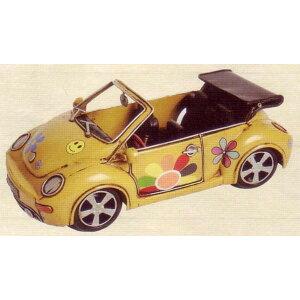 昔懐かしレトロな車のブリキのおもちゃ! ブリキのおもちゃ オープンカー・ビートル イエロー...
