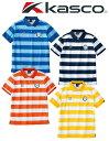 【ネコポス送料無料】ボーダーポロシャツ GKWP2150Cイエロー、ネイビー、ブルー、オレンジKasco / キャスコ ウェア