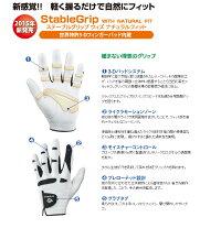 【送料無料】【競技使用不可】BIG160バイオニックゴルフグローブステイブルグリップウィズナチュラルフィット(日本仕様・正規品)/BIONIC