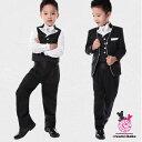 子供 フォーマル スーツパイピングジャケットスーツ5点セット 卒業式 入学式 ボーイズスーツ 90 100 110 120 130 140 150cmブラック