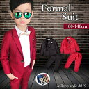 男の子 スーツ レッド ブラック 5点セット ジャケット パ...