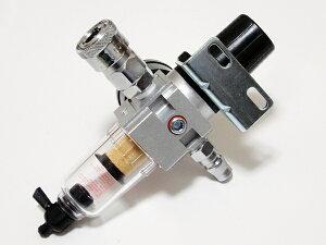 組立調整済カプラー付エアーレギュレーターコンプレッサーに