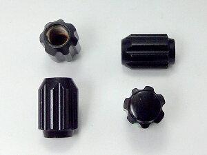 【4個セット】クロモリスチール製袋型レーシングロックナットセット19H31mm黒ブラックピッチ1.5or1.25