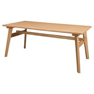 〔木製〕カントリーデザイン160cm幅ダイニングテーブル〔ナチュラル〕
