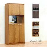 〔木製〕カントリーデザイン80cm幅シューズボックスロータイプ〔ナチュラル〕完成品日本製国産品