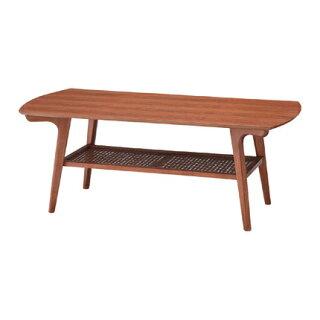 センターテーブル幅105cm〔ブラウン〕〔木製〕