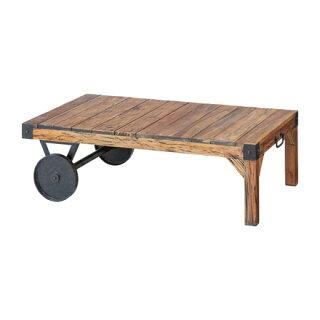 センターテーブルブラウン木製ミッドセンチュリー風