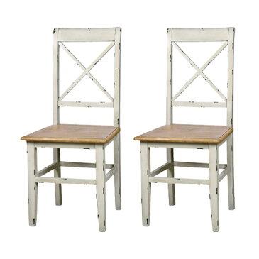 ダイニングチェアー 2脚セット 木製 アンティーク風 食堂椅子 食堂イス 食卓チェアー 食堂チェアー カウンターチェアー いす カフェチェアー