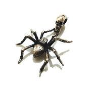 ドライヴdp-058スパイダーペンダントメンズsilver925シルバー925シルバーアクセリアル蜘蛛クモ生き物虫ハードシルバーアクセ燻銀メンズバイカー人気アクセサリーギフト男性生物クリーチャー
