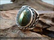 唐草モチーフシルバーリングラブラドライトオーバル特大天然石silver925シルバー925シルバーアクセネイティブ系インディアンジュエリー指輪