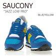 送料無料 サッカニー スニーカー Saucony メンズ レディース JAZZ LOW PRO ジャズ ロウ プロ BLUE YELLOW ブルー イエロー S70271-3