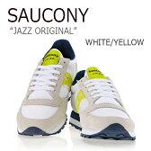 【送料無料】Saucony/JAZZ ORIGINAL/WHITE/YELLOW【サッカニー】【ジャズ】【S1044-365】