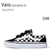 【送料無料】Vans OLD SKOOL EZ/Black/White/CHK【バンズ】【オールドスクール】【V36EZ】