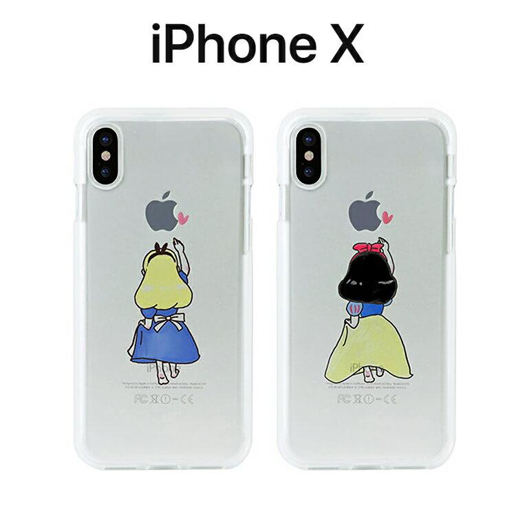 43dff068a4 iPhoneX ケース Dparks ソフトクリアケース ファンタジー ディーパークス アイフォン カバー 白雪姫 アリス お取り寄せ