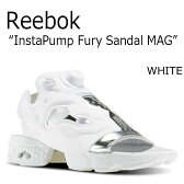 送料無料 リーボック サンダル Reebok メンズ レディース INSTA PUMP FURY SANDAL MAG インスタ ポンプ フューリー WHITE ホワイト BD3186 シューズ