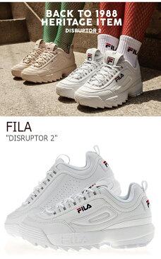 フィラ スニーカー FILA メンズ レディース DISRUPTOR 2 ディスラプター2 White ホワイト FS1HTA1071X FLFL8A1U01 シューズ