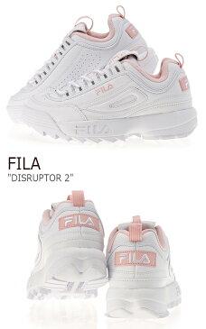 フィラ スニーカー FILA レディース DISRUPTOR 2 ディスラプター2 White Pink ホワイト ピンク FS1HTA1074X シューズ