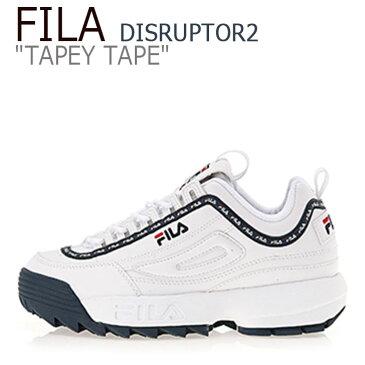 フィラ ディスラプター スニーカー FILA メンズ レディース DISRUPTOR 2 TAPEY TAPE テーピー テープ WHITE NAVY ホワイト ネイビー FS1HTA3093X シューズ