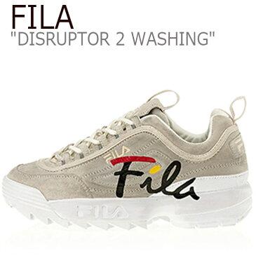 フィラ ディスラプター2 スニーカー FILA メンズ レディース DISRUPTOR 2 WASHING ディスラプター2ウォッシング GRAY グレー FS1HTA3113X シューズ