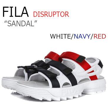 フィラ ディスラプター サンダル FILA メンズ レディース DISRUPTOR SANDAL WHITE ホワイト NAVY ネイビー RED レッド FS1SPA2003X シューズ
