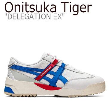 オニツカタイガー スニーカー Onitsuka Tiger メンズ レディース DELEGATION EX デレゲーション WHITE ホワイト ELECTRIC BLUE エレクトリックブルー 1183A559-101 シューズ