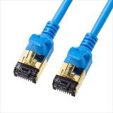 カテゴリ8細径 LANケーブル 3m ブルー 極細4.0mm 超高速40Gbps ツメ折れ防止カバー付き サンワサプライ KB-T8SL-03BL
