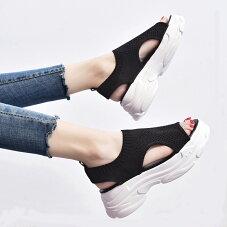 送料無料あす楽サンダルカジュアルデイリーサンダルレディース歩きやすい痛くない厚底メッシュスポーツサンダル通気性韓国風カジュアル歩きやすい