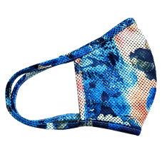 送料無料メール便発送で送料無料洗って使えるマスク夏用クールマスク冷感マスク洗える3D立体構造乾きやすい伸縮性UVカット冷感布マスクひんやりA柄
