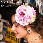 マーブルピンクローズヘッドドレス(hiila・イーラ)1