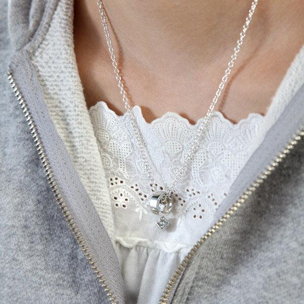 リングホルダー ペンダント ネックレス リング シルバー925ダイス サイコロ 指輪 charm チャーム チェンジャブルホルダーネックレス 指輪 ネックレスに する 通す プレゼント 結婚祝い 出産祝い ギフト