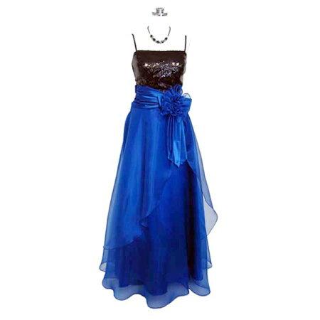 2db2d9fab2e0f ロングドレス オーガンジースパンコールドレス ブルー 9号 ロングドレス ...