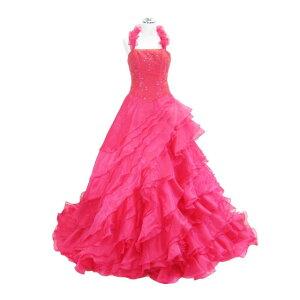 9f918d704c7d6 ウェディングドレス フォーマルドレス フリルトレーンロングドレス レッド 11号 送料無料 L8