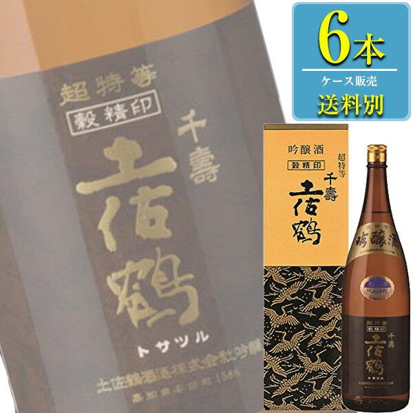 土佐鶴酒造 吟醸酒 穀精 1.8L瓶 x 6本ケース販売 (清酒) (日本酒) (高知)