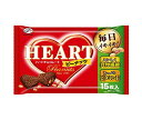 送料無料 不二家 ハートチョコレート ピーナッツ 15枚×1