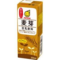 【送料無料】マルサン 豆乳飲料 麦芽 200ml 1ケース24本