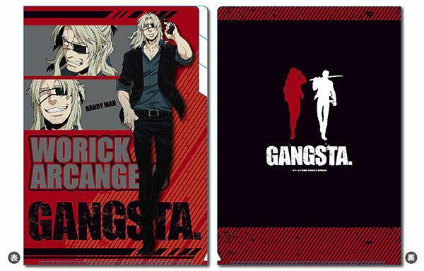 TVアニメ GANGSTA.(ギャングスタ)クリアファイル3ポケットウォリック【クリックポスト対応】画像