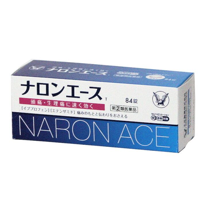 【第(2)類医薬品】 ナロンエースT 84錠  イブプロフェン+エテンザミド 大正製薬 ★メール便発送可能【但し箱から取り出します】