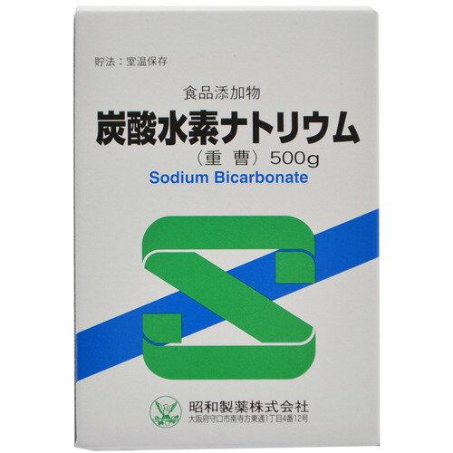 5/10(月) 5%OFFクーポン利用で10倍相当 昭和製薬食品添加物炭酸水素ナトリウム(重曹)500g ドラッグピュア市場店