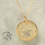 K18ゴールドネックレススターネックレス存在感ある丸いコイン状のデザイン18k/18金ネックレス【送料無料】『DEVAS』
