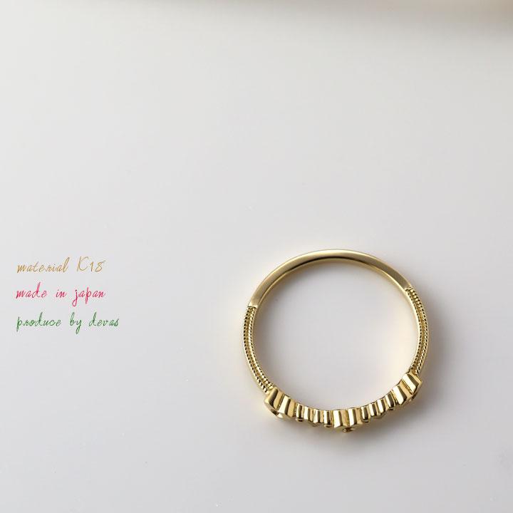 K18 ゴールド リング【ダイヤモンド・ピンクサファイヤ】ハート リング【18k/18金 指輪】 プレゼント DEVAS ディーヴァス 誕生日 ギフト  妻  かわいい レディース ゴールドリング ダイヤ ダイアモンド ダイヤモンドリング
