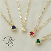 ゴールド ネックレス ストーン プレゼント ディーヴァス シンプル ジュエリー ダイヤモンド