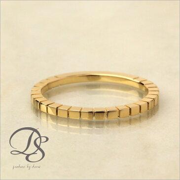 【K18ゴールド リング】18k 18金 指輪DEVAS ディーヴァス ピンキーリング シンプル ゴールドリング レディース かわいい 華奢 ジュエリー 重ねづけ 大人可愛い お誕生日 プレゼント 彼女 5号 6号 7号 8号 9号 四角 スクエア