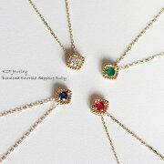 ゴールド ネックレス アンティーク ダイヤモンド エメラルド サファイア プレゼント オススメ ペンダント レディース シンプル