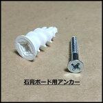 【石膏ボード用アンカー】プラドリラー/PAC-C2/ウォールシェルフ取付用ネジ/ネジ径3.5mm付