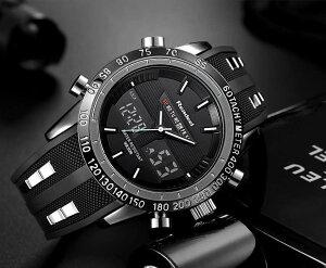 男性腕時計 トップブランドの高級男性 腕時計 ラバー LED デジタルクオーツ スポーツウォッチ 防水 ダイバーズウオッチ