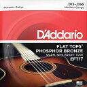 【DT】D'Addario EFT17 Medium 013-056 Flat Tops Phosphor Bronze ダダリオ アコギ弦