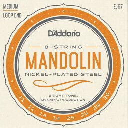 D'Addario EJ67 Medium 011-039 Nickel Steel ダダリオ マンドリン弦