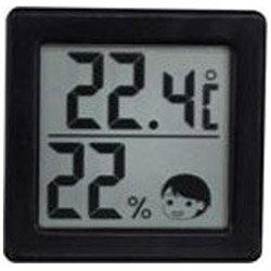 ドリテック 小さいデジタル温湿度計 O-257BK O257の写真